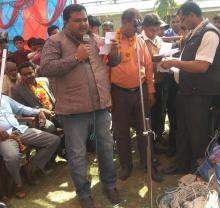 नगर प्रमुख श्री नितेन्द्र प्रसाद साह ज्यु आफ्नो मन्तब्य व्यक्त गर्दै।