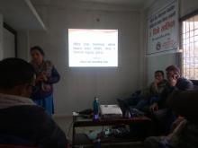 महिलातथा बालबालिका शाखाको संयोजक श्री पार्वती पौडेल ज्यु आफ्नो विचार राख्दै।।