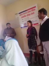 २ दिने महिला स्वास्थ्य स्वयम् सेविकाअर्धबार्षिक समिक्षा गोष्ठी वडा नं ८ रामनगरी मा संचालन हुदै।